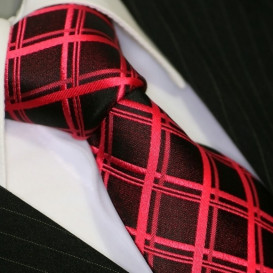 BINDER DE LUXE krawat 100% jedwab wzór 662