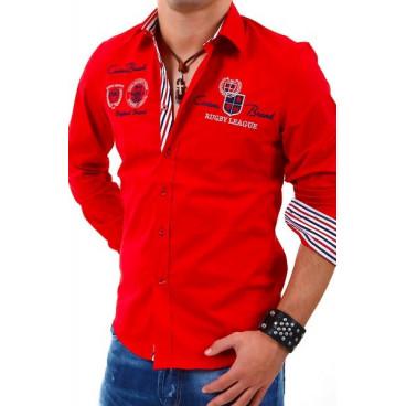 CARISMA koszula męska 8004 slim fit haft