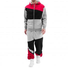 DANGEROUS DNGRS dres męski Sweat Suit Grey/Black/Red