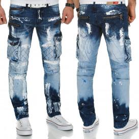 KOSMO LUPO spodnie męskie jeansy dżinsy KM135-1 bojówki