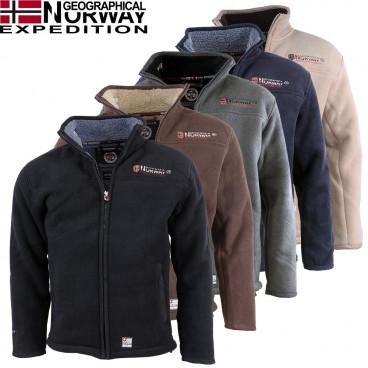 GEOGRAPHICAL NORWAY bluza męska UBOLT z futerkiem
