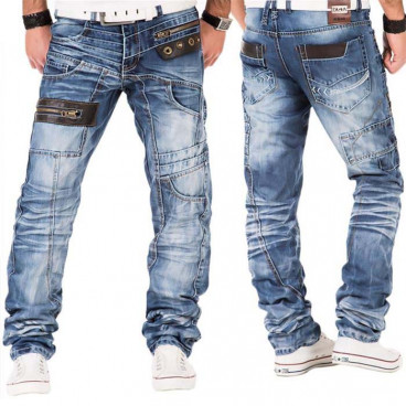 KOSMO LUPO spodnie męskie jeansy dżinsy KM012