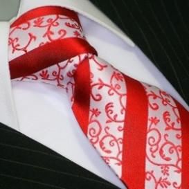 BINDER DE LUXE krawat 100% jedwab krawat wzór 133