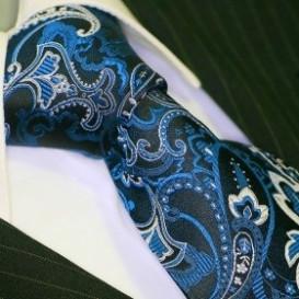 BINDER DE LUXE krawat 100% jedwab wzór 664